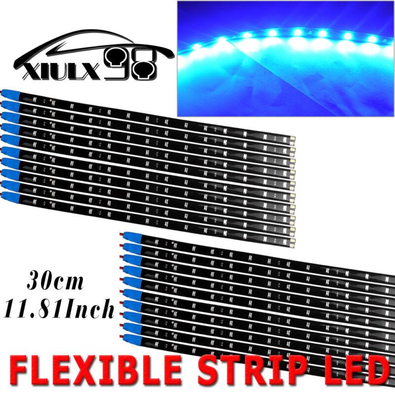 20pcs Blue 15LED/30CM Flexible Light Strip Bar for Car Boat