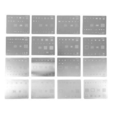 16pcs Ic Chip Bga Reballing Stencil Solder Template Kit For Iphone Series Hot