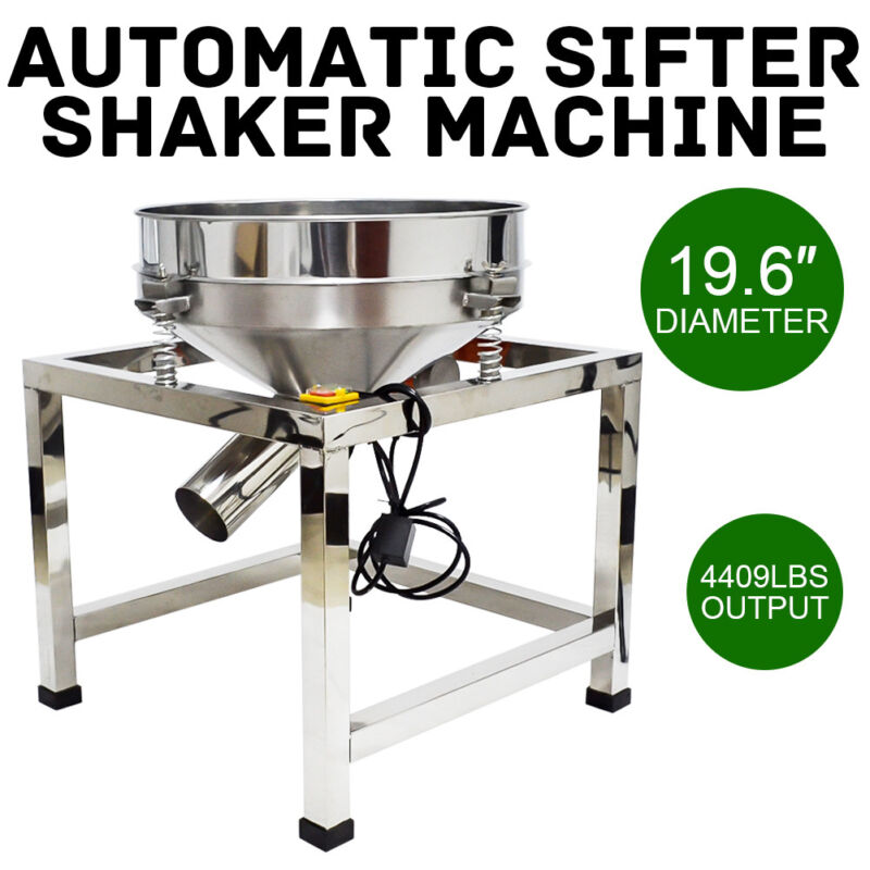 "Φ19.6"" Electric Stainless Steel Vibrating Sieve Machine Automatic Sifter Shaker"