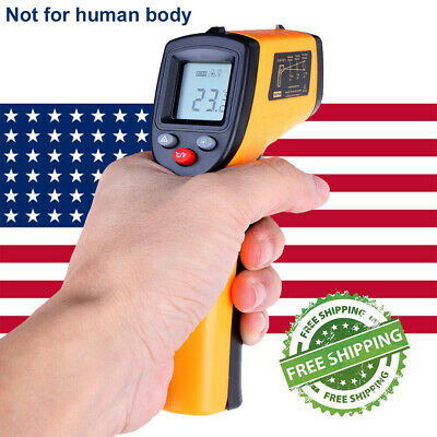 Portable Digital Thermometer Infrared Temperature Gun Non-contact Ir Laser Point