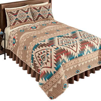 Reversible Southwest Geometric Aztec Quilt