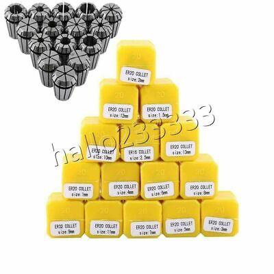 15pcs Er20 1-13mm Spring Collet Set Fr Spindle Milling Lathe Tool Workholding