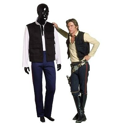 Han Solo Costume Shirt (A New Hope Han Solo Costume Star Wars Vest Shirt Pants w Blood Stripes Suit)