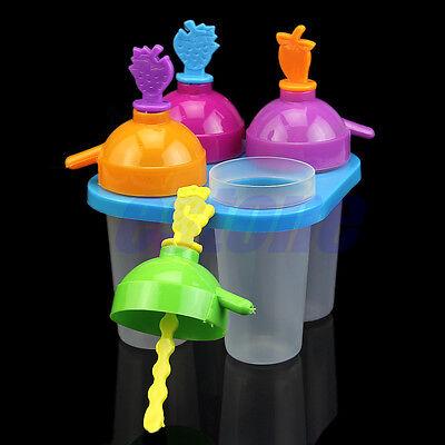 4 Frozen Ice Cream Pop Popsicle Maker ...