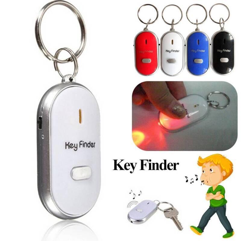 1Pcs Whistle Key Finder Flashing Beeping Remote Lost Keyfinder Locator Keyring