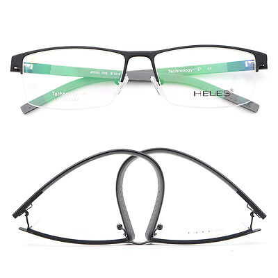 US Stock Business Office Style Flexible Temple Eyeglasses RX Eyewear Frame Black