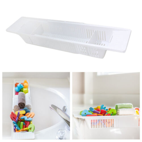 baby bathroom tub toy organizer storage basket retractable adjustable container ebay. Black Bedroom Furniture Sets. Home Design Ideas