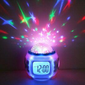 Star Light Projector Clock w Music RRP £9