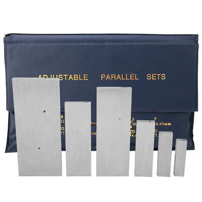 6 Pcs Steel Adjustable Parallel Block Set 382-14in