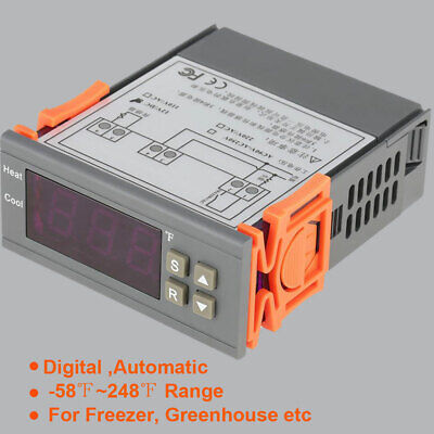Digital Electric Temperature Controller Temp Sensor Thermostat Control Freezer