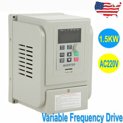 1 To 3 Phase 1.5kw Variable Frequency Drive Converter Vfd Controller 8a