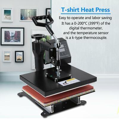 Heat Press Machine Digital Transfer Sublimation T Shirt Hat Plate Cap U