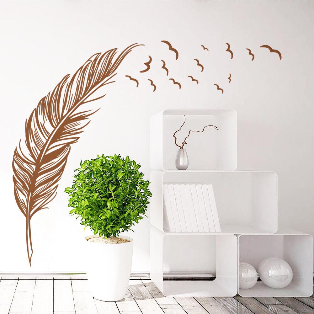 wandaufkleber wandtattoo wohnzimmer schlafzimmer vogel. Black Bedroom Furniture Sets. Home Design Ideas