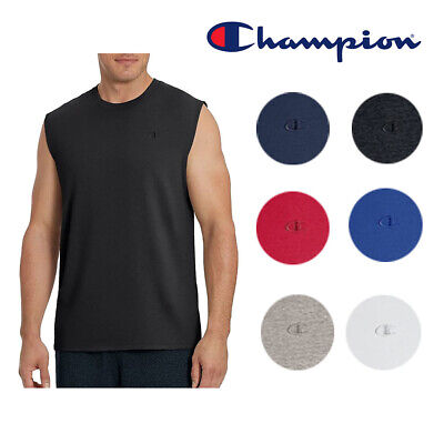 Champion Men's Athletic Wear T0222 Sleeveless Workout Classic Jersey Muscle Tee Activewear