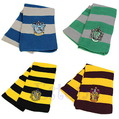 Hot! Harry Poter Gryffindor Slytherin Hufflepuff Ravenclaw Knit Scarf Cosplay