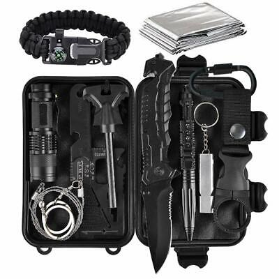 11 in 1 EDC Outdoor Camping Military Survival Gear Kits Box Emergency...