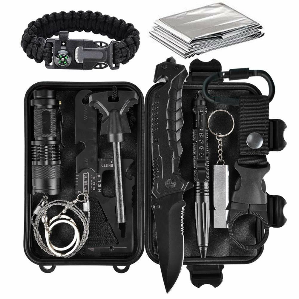 11 in 1 Emergency Camping Survival Equipment Kit Outdoor Tactical Gear Tool Set