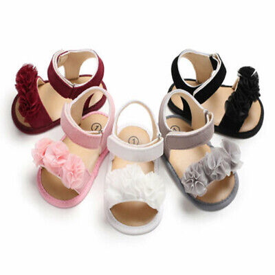 0-18M Baby Girl Lovely Sandals Sneakers Toddler Kid Soft Crib First Walker Shoes
