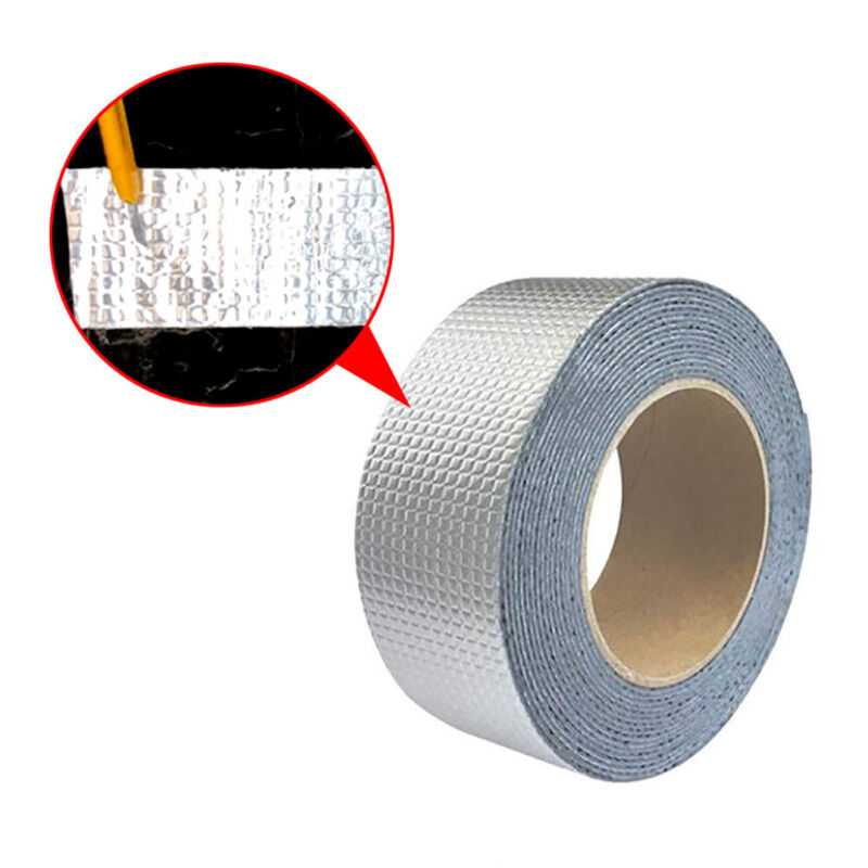 3M Butyl Rubber Aluminum Foil Tape Adhesive Fusing Waterproof Sealing Strip Roll