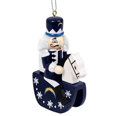 San Diego Chargers Rocks - SAN DIEGO CHARGERS Nutcracker Rocking Horse Christmas ornament rocking horse