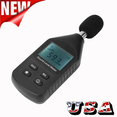 Lcd Digital Sound Noise Level Meter Volume Measuring Instrument Decibel Tester