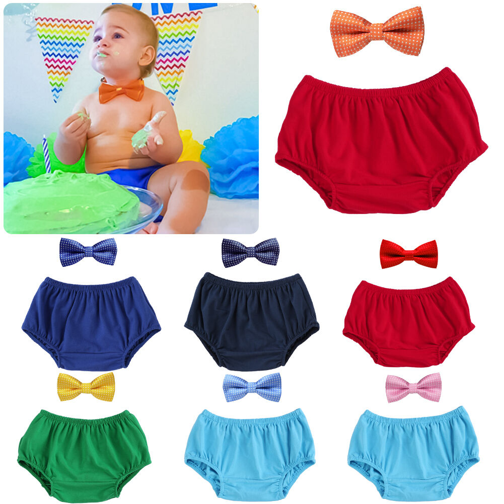Baby Boys First 1st Birthday Outfit Cake Smash Set Shorts Top Bow Tie Black Red