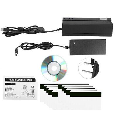 Msr606 Magnetic Stripe Credit Card Reader Writer Encoder Usb Rechargable Black