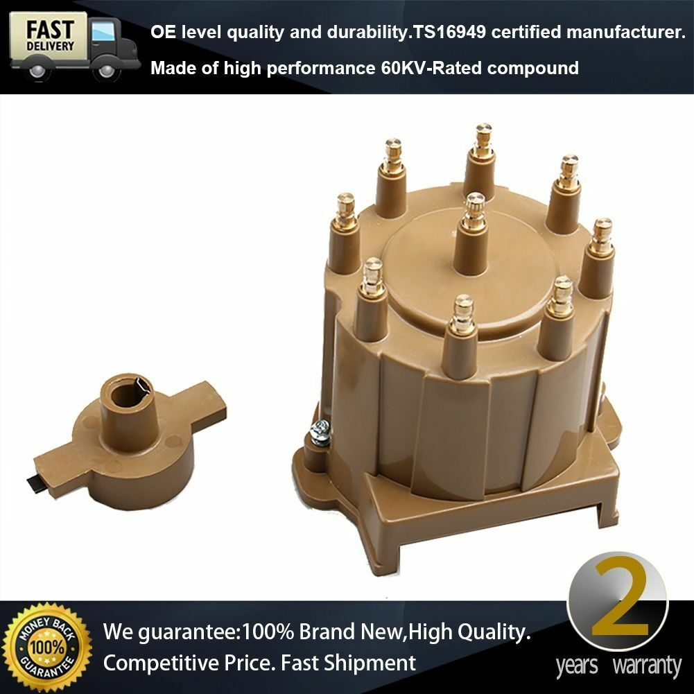Distributor Cap Rotor Kit External Coil Male Hei Brass Terminal Chevy For Gmc