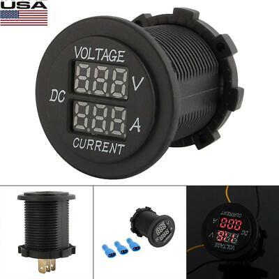 Car Dc 12-24v Dual Led Digital Display Voltmeter Ammeter Amp Volt Meter Gauge