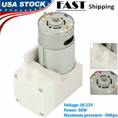 12v Mini Vacuum Pump Negative Pressure Suction Pumping 7lmin -76kpa