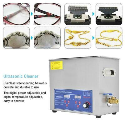 6l Digital Stainless Ultrasonic Cleaner Ultra Sonic Bath Cleaning Timer Tank