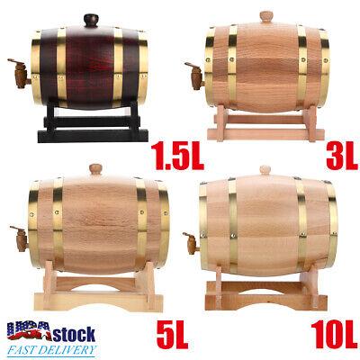 Whiskey Beer (1.5L/3L/5L/10L Vintage Oak Timber Wine Barrel for Beer Whiskey Rum Port Wood Keg )