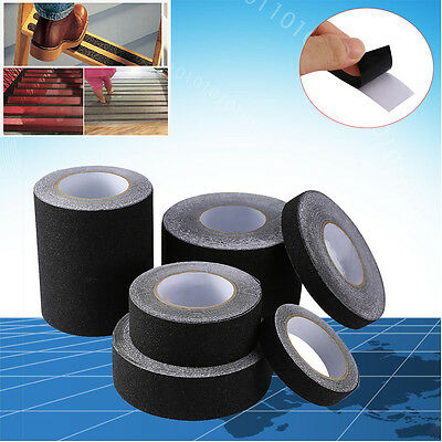 60 Black Roll Safety Non Skid Tape Anti Slip Tape Sticker Grip Safe Grit 2-6