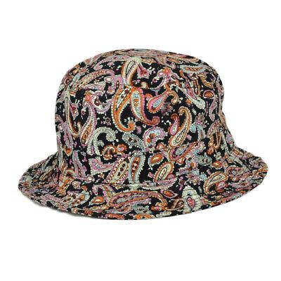 Paisley Blank Retro Pattern Design Sun Bucket One Size Hat Crusher Beach -