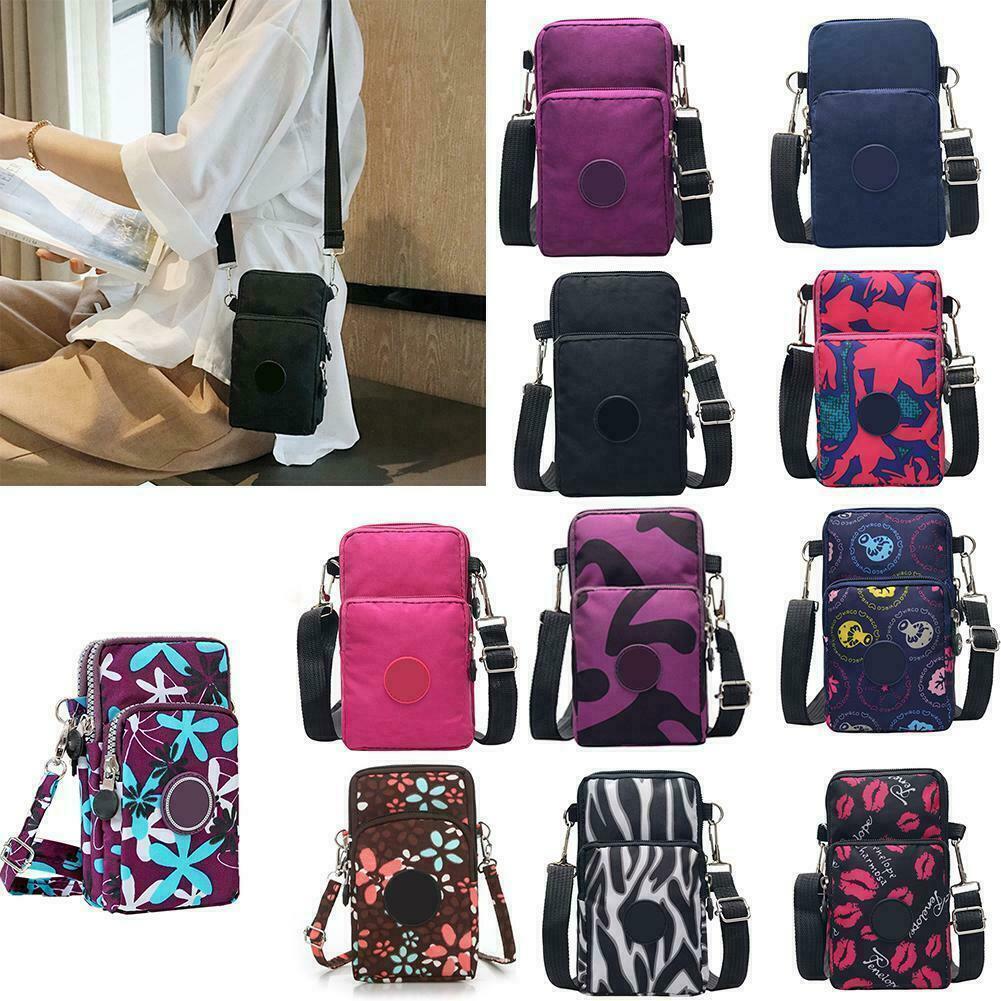 Women Cross-Body Cell Phone Shoulder Strap Wallet Pouch Bag-