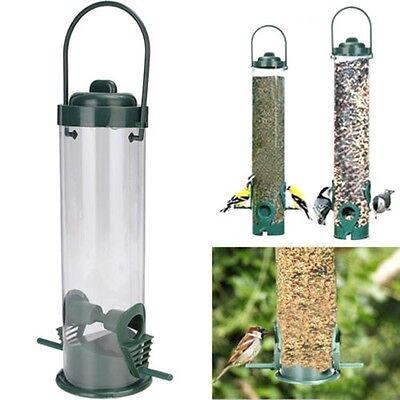 Hanging Wild Bird Seed Feeder Holder HangerPerch Squirrel Peanut Garden Feeding