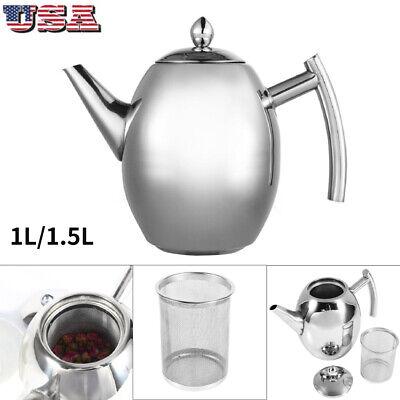 stainless steel teapot coffee pot water kettle