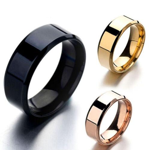 Men Titanium Stainless Ring Lover Couple Rings Jewelry Vinta