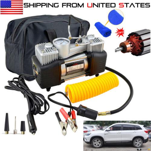 12V Heavy Duty Portable  Car Tire Inflator Pump Air Compressor 150 PSI AUTO US