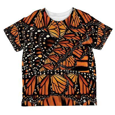 Halloween Monarch Butterfly Costume All Over Toddler T Shirt - Monarch Butterfly Toddler Halloween Costume