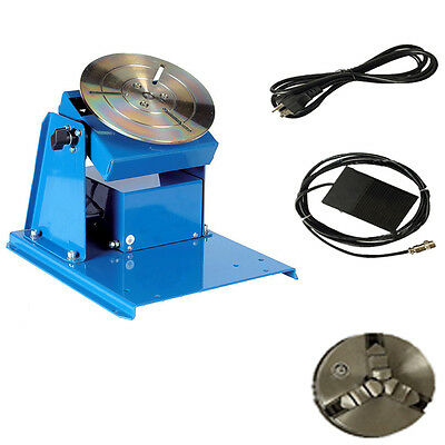 Rotary Welding Positioner Turntable Table Mini 2.5 3 Jaw Lathe Chuck 110v