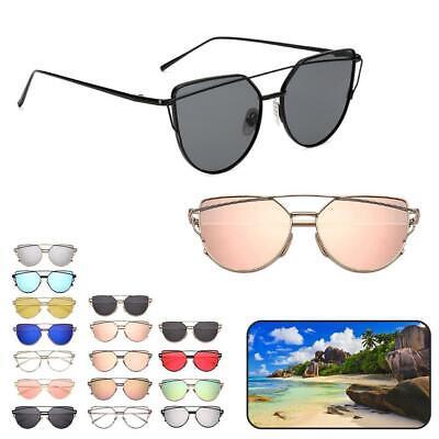 Katzenauge-Sonnenbrille-Frauen-Weinlese-Metallreflektierende Gläser für J1