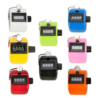 Gogo 4 Digit Mechanical Tally Counter Plastic Manual Clicker With Finger Loop
