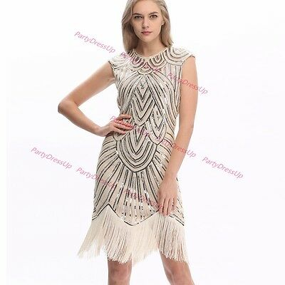 Ladies Flapper Gatsby Costume 1920s Charleston Fancy Dress Party Outfit AU - 1920 S Outfits