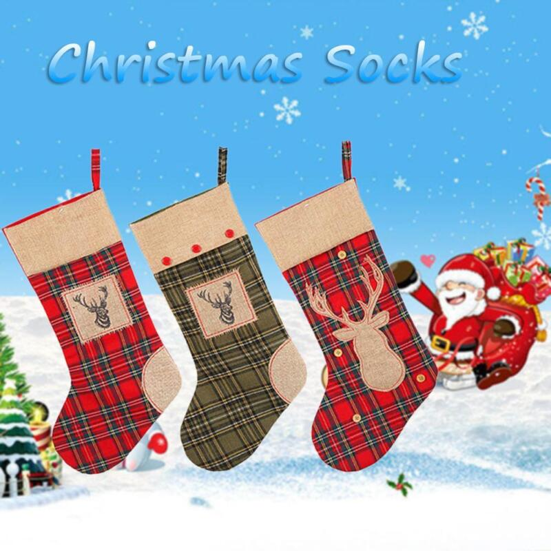 50cm Personalised Children Christmas Stocking Hanging Sack Xmas Socks Kids Gifts