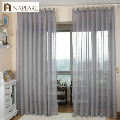 NAPEARL 1 Panel Cheap Soft Pure Tulle Solid Curtains Voile Window Tulle Curtains - Cheap Tulle