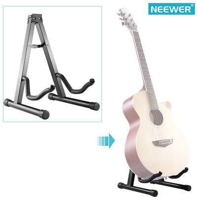 Neewer Black Portable Adjustable A-Frame Electric Guitar Floor Stand Holder