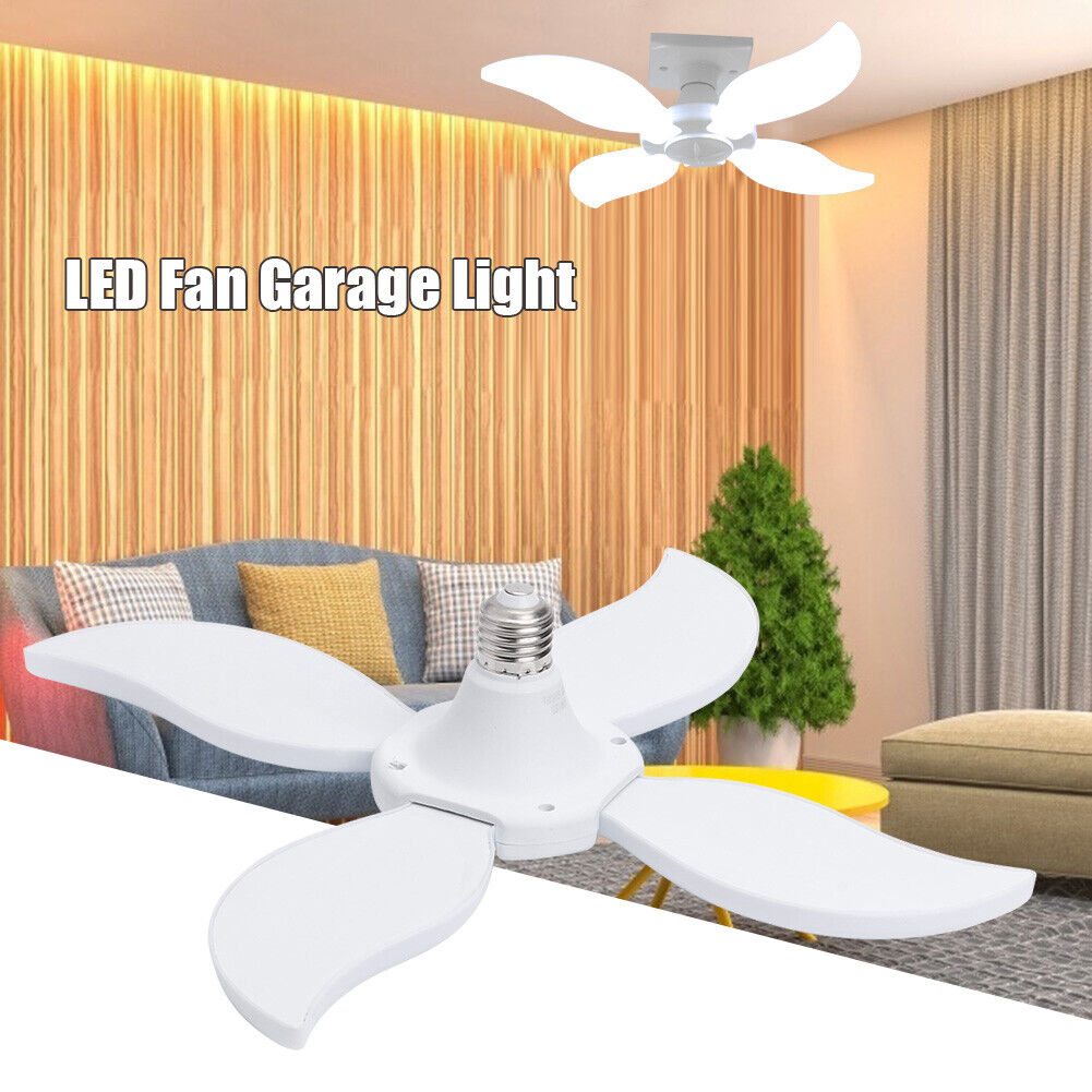 60W E27 LED Ceiling Fan Lamp High Bay Shop Work Light Indoor
