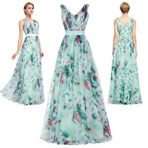 Nuevo-Mujer-Verano-Vestido-Largo-Floral-Coctel-Formal-Graduacion-Vestido-Noche