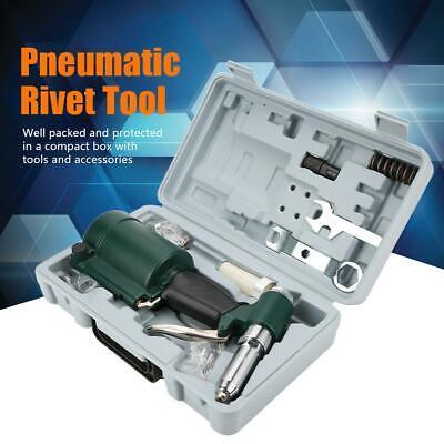 14 Industrial Pneumatic Air Hydraulic Rivet Gun Riveter Tool Kit Set 2.4-4.8mm